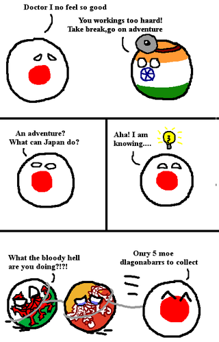 Illustration for article titled Daily Polandball: Japans Adventure