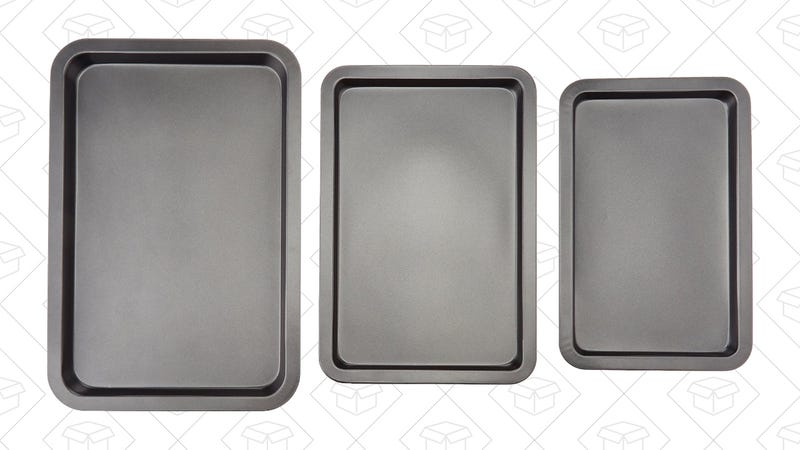AmazonBasics 3-Piece Baking Sheet Set, $11