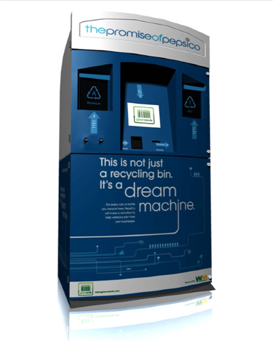 Illustration for article titled Pepsi's Dream Machine Kiosk Awards Points for Recycled Bottles
