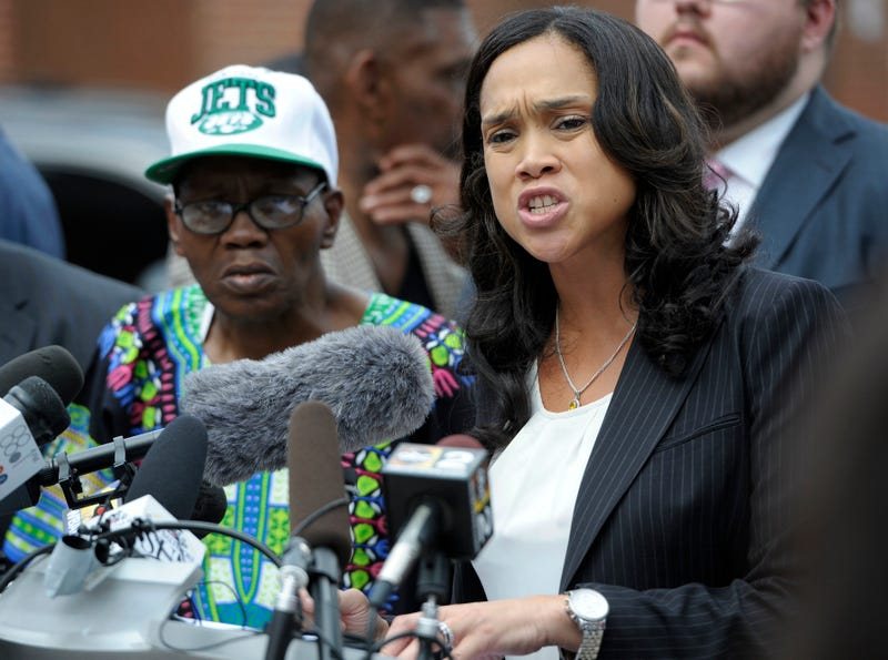 Marilyn Mosby, at the podium