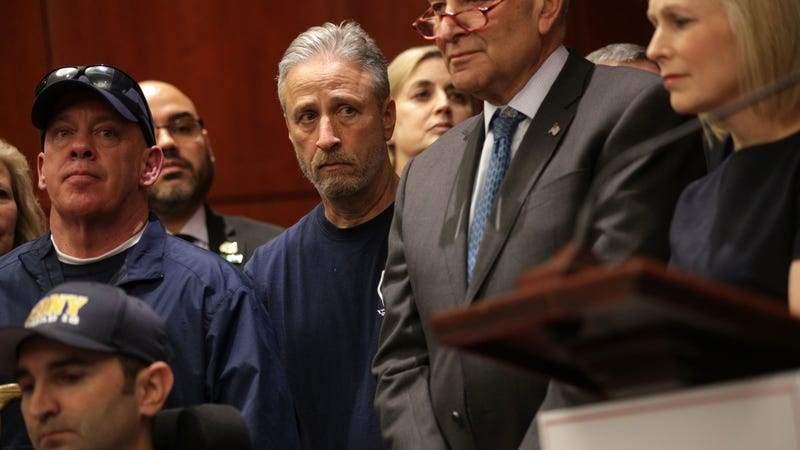 Illustration for article titled Jon Stewart is working with Congress to extend aid to 9/11 first responders