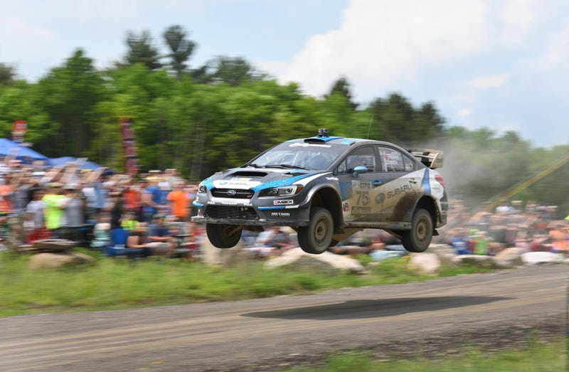 Dave Higgins setting an example at the 2016 Susquehannock Trail Performance Rally (Image: Subaru)