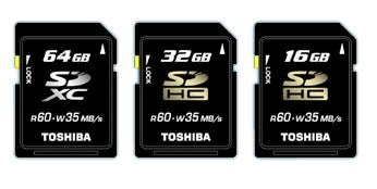 Illustration for article titled Toshiba 64GB SDXC Card Is Will Be the World's Largest, Fastest