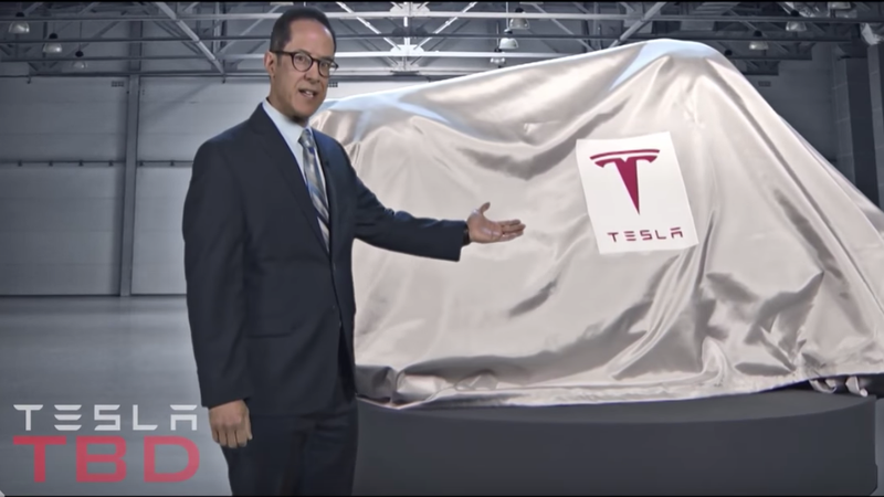 Illustration for article titled Conan O'Brien Reveals Tesla's Newest Product To Save Itself—The Tesla 'TBD'
