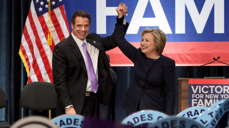 Illustration for article titled Hillary Clinton Endorses Andrew Cuomo for Governor, Which Means She Does Not Endorse Cynthia Nixon