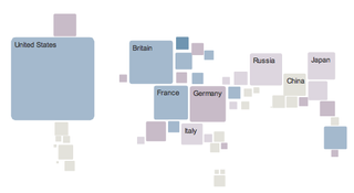Illustration for article titled Cool Visualization Shows World's Spending On Electronics By Country (We Spend A Lot)