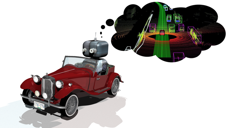 Illustration for article titled How Autonomous Cars See The World