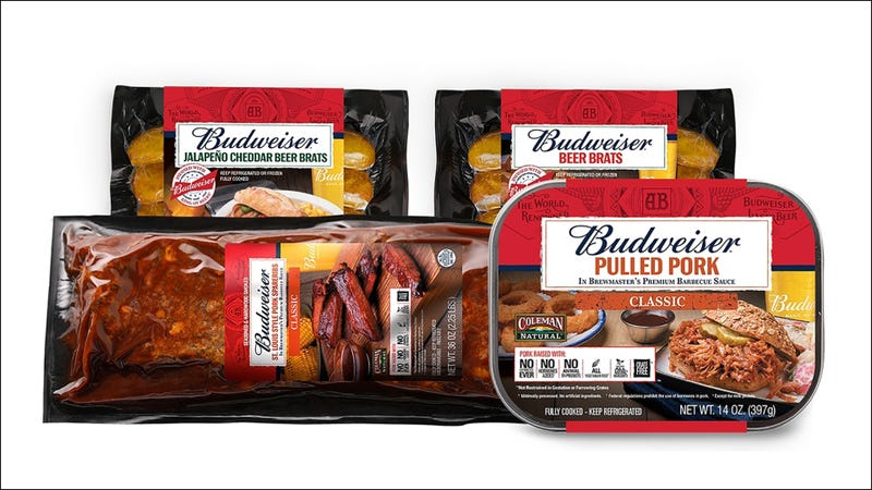 Illustration for article titled Budweiser, Coleman tout new beer-meat products for millennials