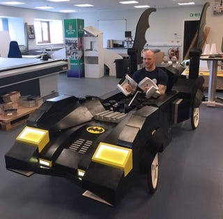 Illustration for article titled These Guys Turned the Lego Batmobile Into a Life-size Soapbox Racer