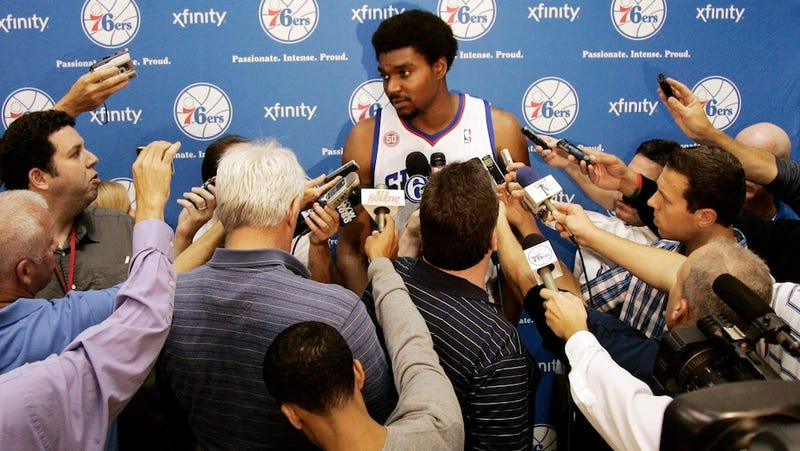 Illustration for article titled Andrew Bynum Will Probably Never Play A Game As A Sixer