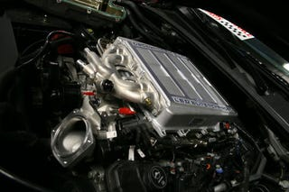 Illustration for article titled Cadillac CTS-V Modified With ZR1 Supercharger: Engine Photos