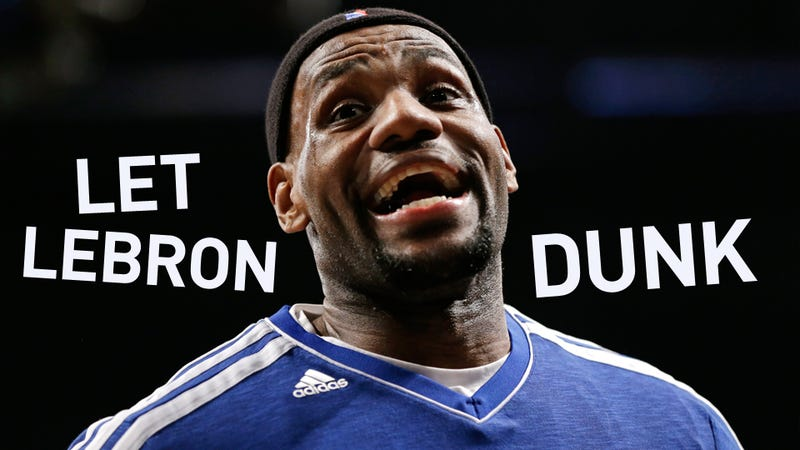 Illustration for article titled LeBron James Threatens To End His Pregame Dunking