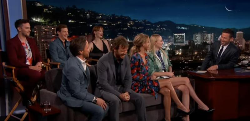 The cast of Dark Phoenix, Jimmy Kimmel