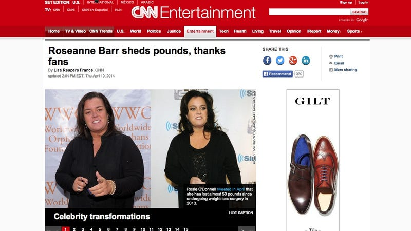 Illustration for article titled Roseanne Barr and Rosie O'Donnell Don't Mind If You Confuse Them