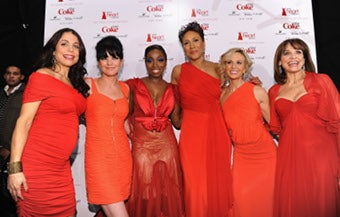 Illustration for article titled Ladies In Red At Heart Truth Celebrity Fashion Show