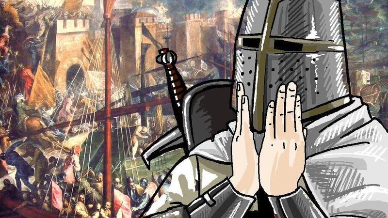 """Image: 4chan """"feels good"""" as a crusader. Because I guess we're bringing back holy wars."""