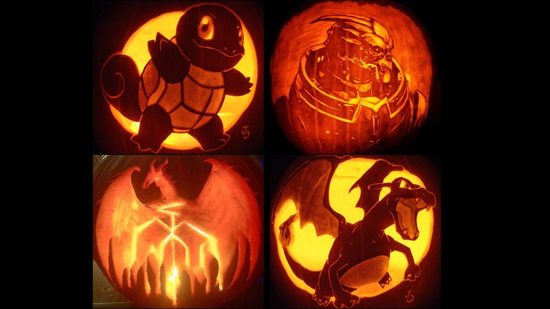 Illustration for article titled The Best Gaming-Themed Jack-O-Lanterns