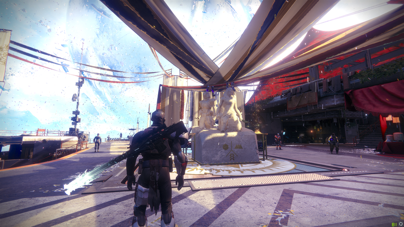 There are usually some people dancing on the Solstice of Heroes statues in the Tower.