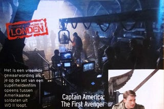 Illustration for article titled Captain America set photos