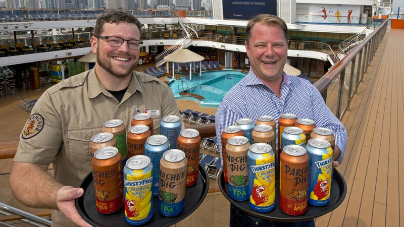 Illustration for article titled Carnival Cruise Line sends beer brewed on board into international waters