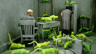 Illustration for article titled Concept Art Writing Prompt: The House of Green Cats