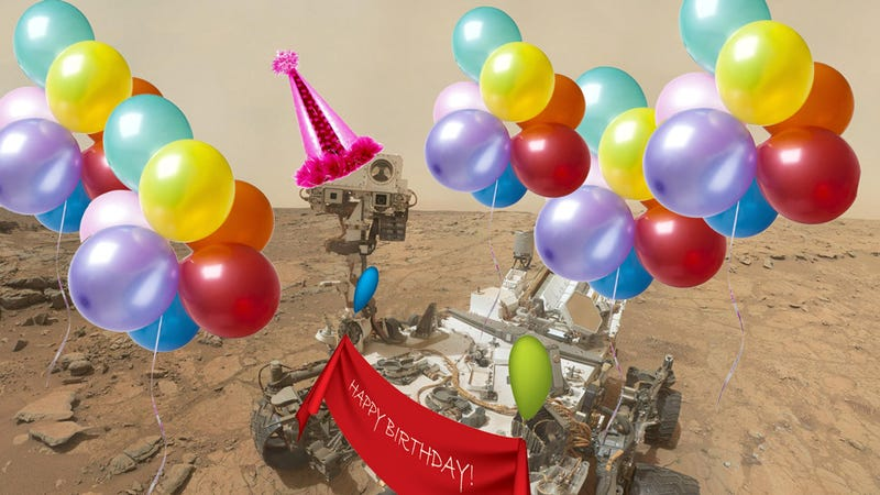 Illustration for article titled Curiosity's Greatest Hits in Its One Year on Mars