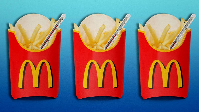 Illustration for article titled You have this many minutes to consume McDonald's French fries before they're inedible