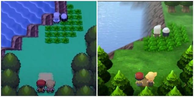 Pokémon Brilliant Diamond and Shining Pearl's Graphics Compared To The Original Games
