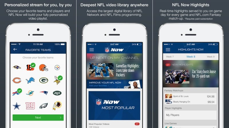 Illustration for article titled NFL Now Brings Your Phone More Football Than You Could Ever Handle
