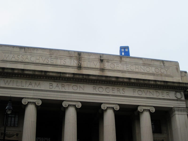 Illustration for article titled What is that police box doing on top of a building at MIT?