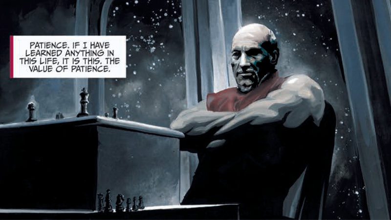 Image: IDW. Mirror Broken art by J.K. Woodward, lettering by AndWorld Design.