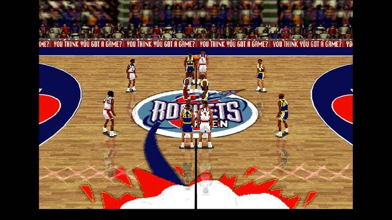 Illustration for article titled LIVE: We're Simulating Tonight's Warriors-Rockets Game In NBA Live 96