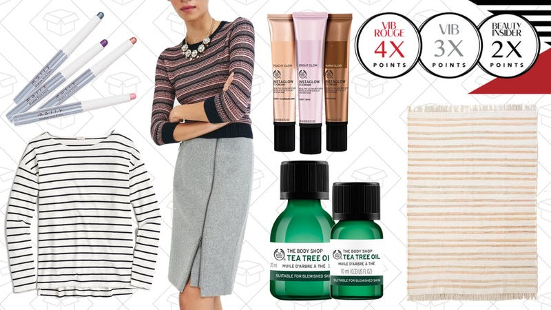 Illustration for article titled Today's Best Lifestyle Deals: J.Crew Factory, Sephora, The Body Shop, and More