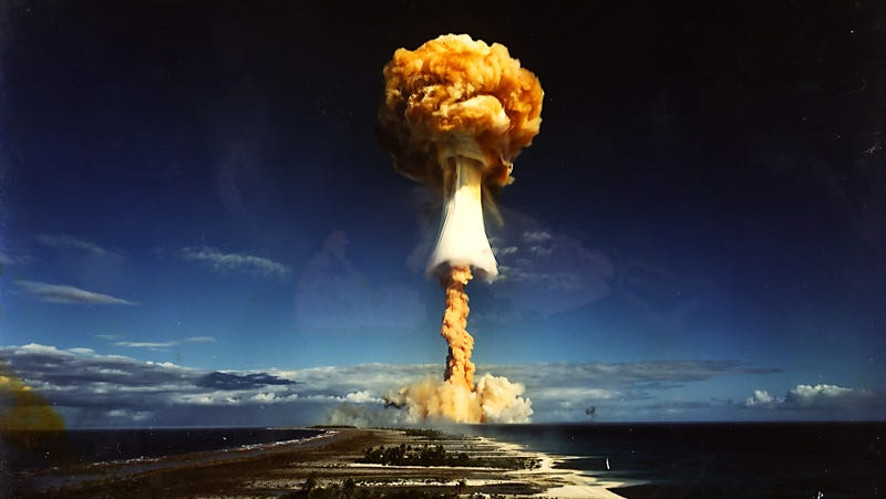 French Licorne nuclear test, July 3, 1970.