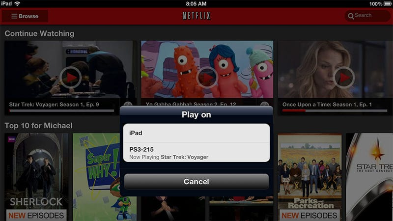 Illustration for article titled There's a PlayStation 3 Surprise in the New iOS and Android Netflix Apps