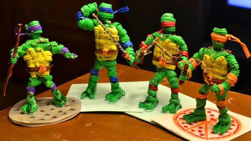 Illustration for article titled No Big Deal, Just Some Ninja Turtles Made Out Of Twist-Ties