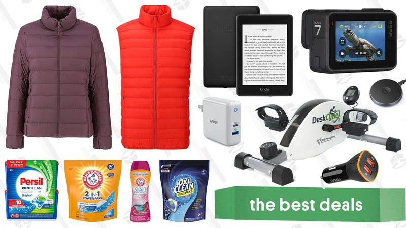 Illustration for article titled Monday's Best Deals: GoPro, Uniqlo Ultra Light Down, Tile, and More