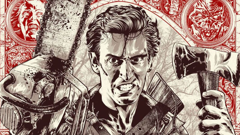 A crop of Anthony Petrie's poster for Evil Dead 2