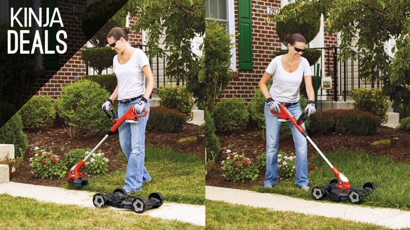 Illustration for article titled This Cordless Edger Does Double Duty as a Real Lawnmower