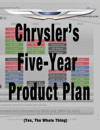 Illustration for article titled Chrysler's Complete Five-Year Product Plan