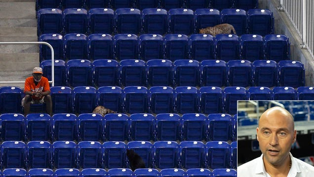 Derek Jeter Just Going To Go Ahead And Count Stray Cats In Marlins Attendance Figure