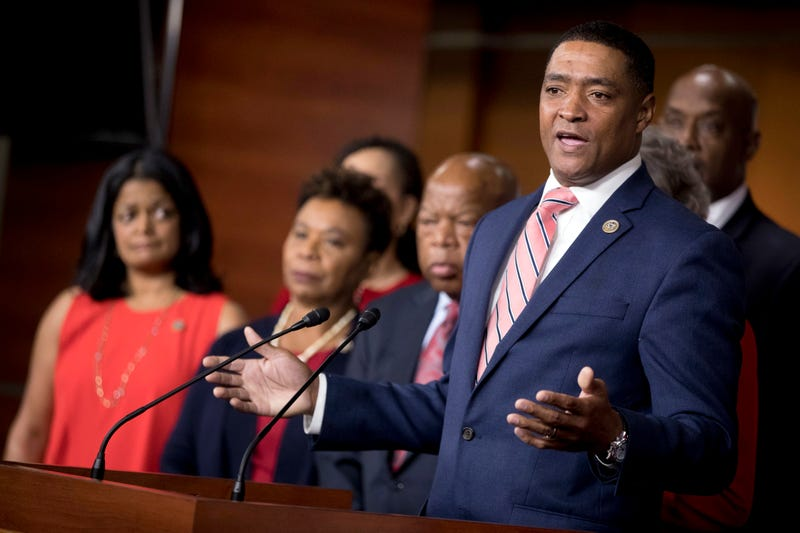Congressional Black Caucus Chairman Rep. Cedric Richmond (D-La.) speaks at a Congressional Tri-Caucus news conference on Capitol Hill in Washington, D.C., on Sept. 27, 2017, on injustice and inequality in America. Richmond was among many black leaders who blasted White House chief of staff John Kelly for his Oct. 30, 2017, comments about the Civil War during a Fox News interview. (Andrew Harnik/AP Images)