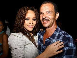 Rihanna and her father, Ronald Fenty (David Crichlow/REX)