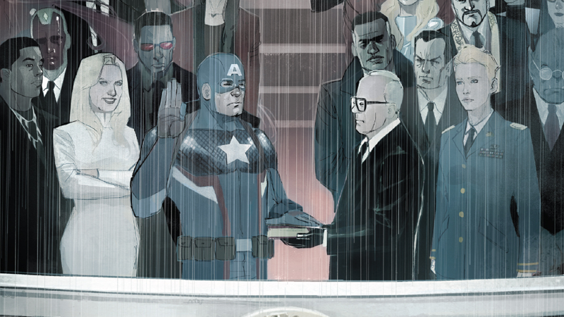 Illustration for article titled As Civil War IIEnds, Steve Rogers Lays Out His Plan to Make America Great Again