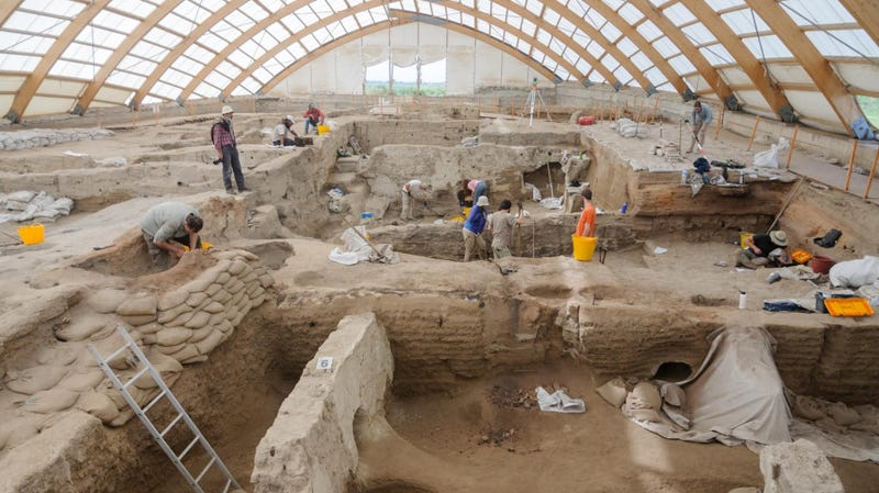Recent excavation works in Çatalhöyük in Turkey.