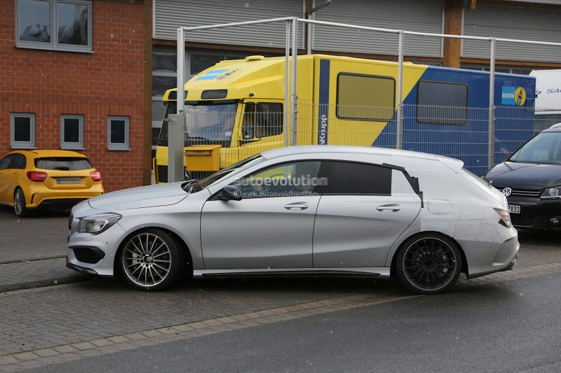 Illustration for article titled The Mercedes CLA45 AMG Shooting Brake is coming.