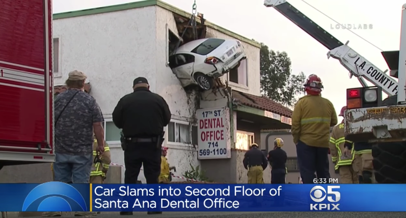 Drugged Driver Manages To Crash Car Into Second Story Of Building (Updated)