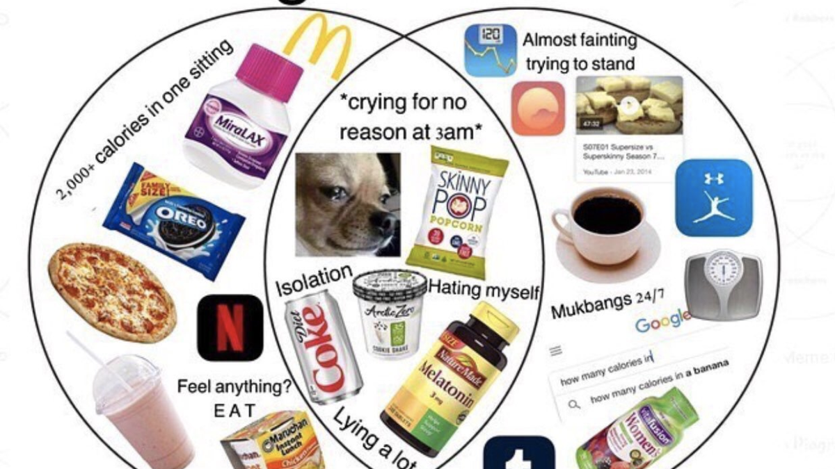 How ED Twitter Turned Eating Disorders Into Relatable Memes