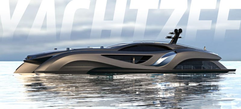 This Million Yacht Looks Like A Supercar Comes With One Inside