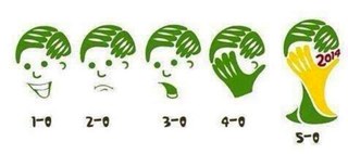 Illustration for article titled Brazil's Meltdown Was Too Sad For The World-Cup-Logo-As-Facepalm Meme